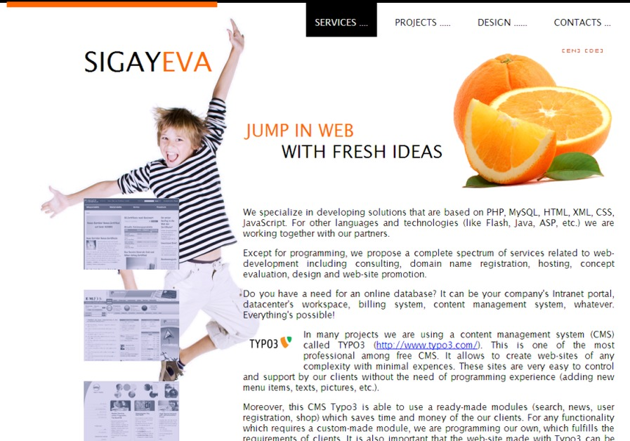 A great web design by Sigayeva, Frankfurt am Main, Germany: