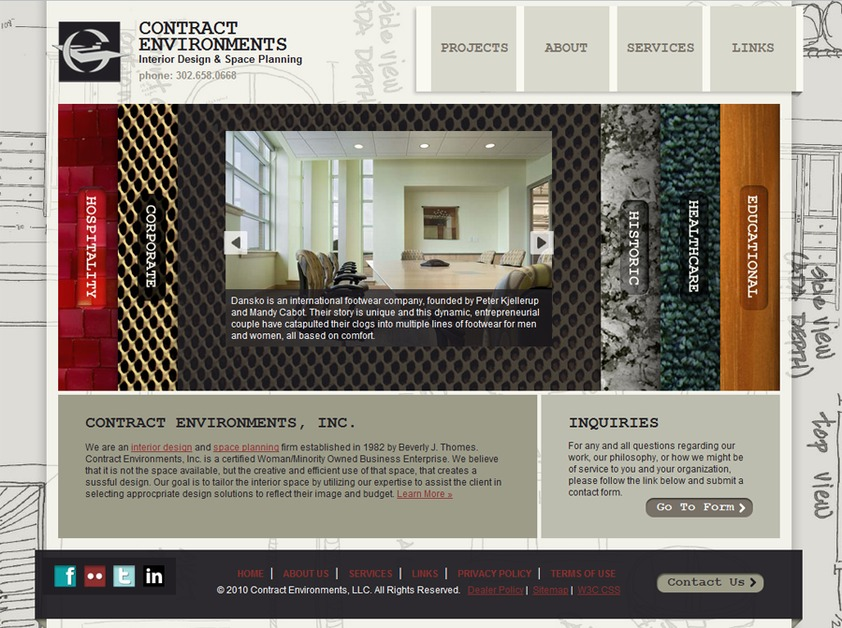 A great web design by atomni, Philadelphia, PA: