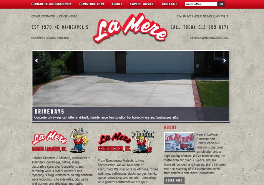 A great web design by B+I Solutions, Minneapolis, MN: