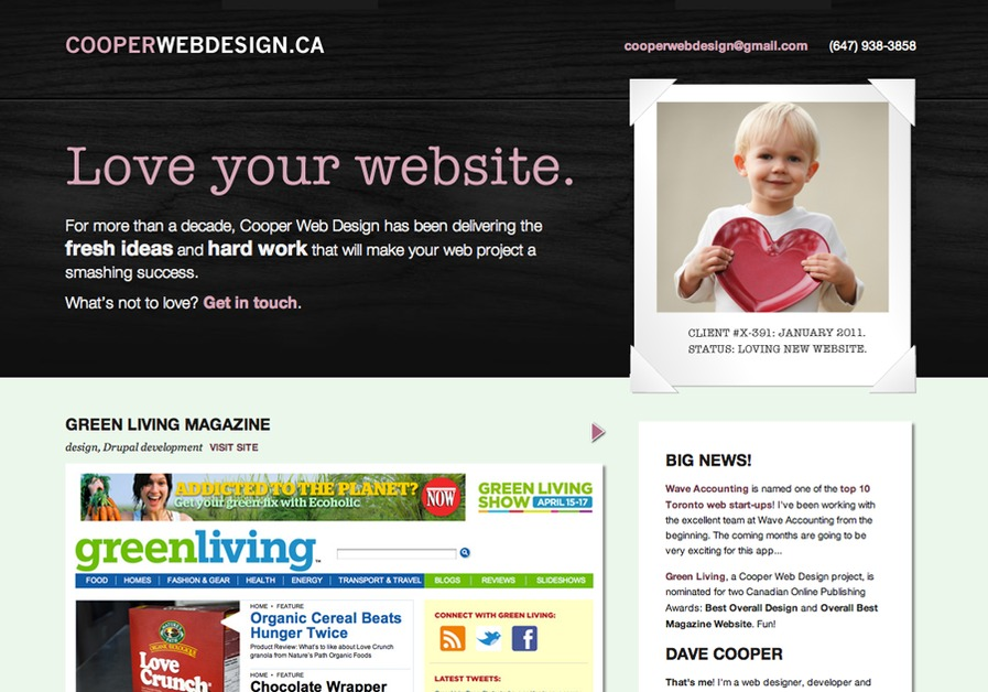 A great web design by Cooper Web Design, Toronto, Canada:
