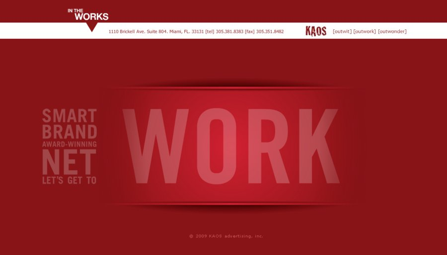 A great web design by KAOS, Miami, FL: