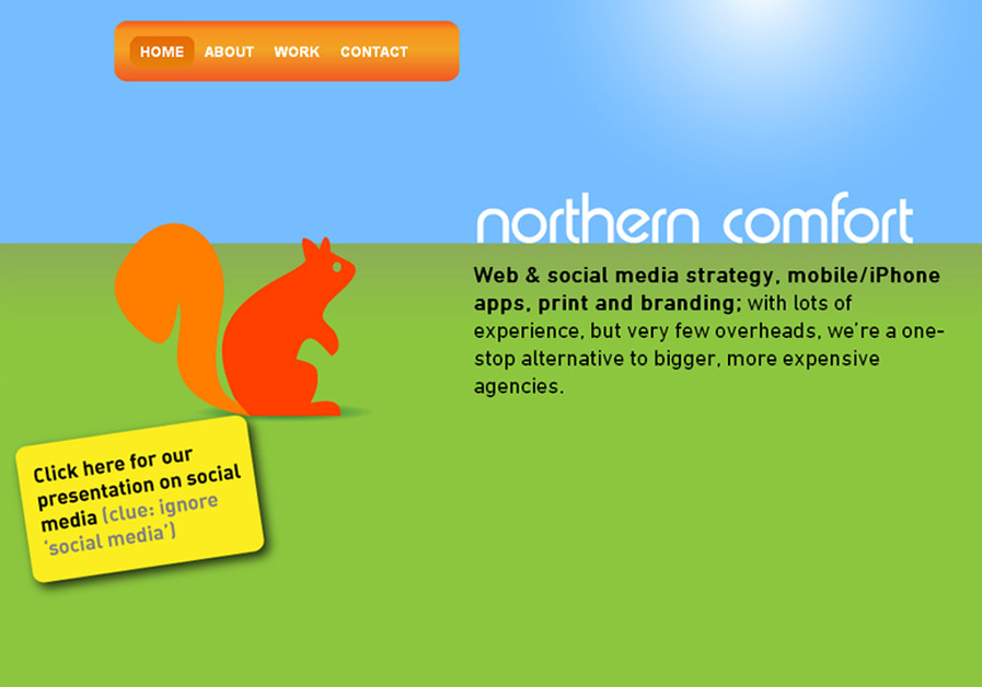 A great web design by Northern Comfort, Manchester, United Kingdom: