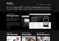 A great web design by Owain Lewis, Cardiff, United Kingdom: