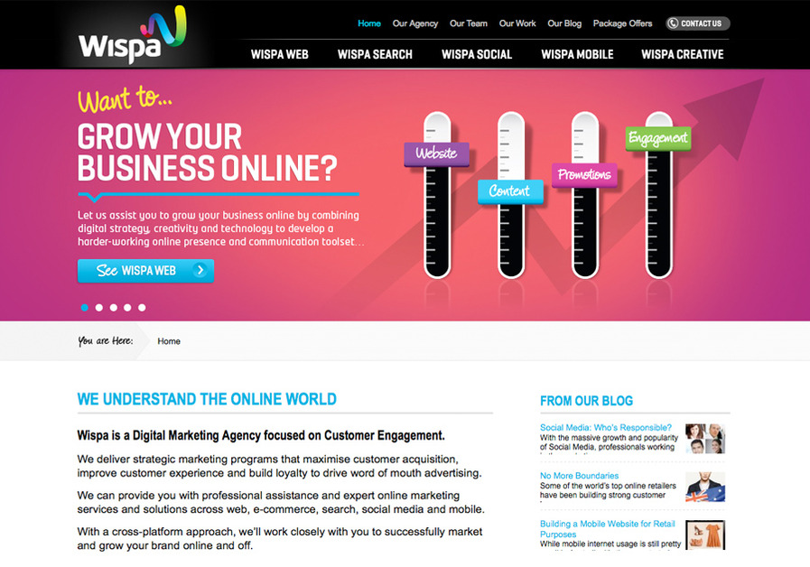 A great web design by Wispa - A Digital Marketing Agency, Sydney, Australia: