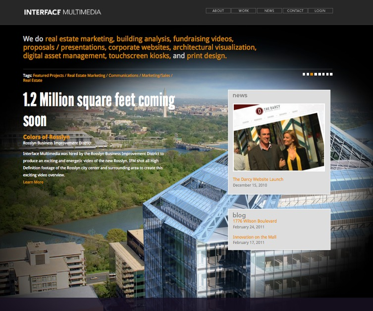 A great web design by Interface Multimedia, Washington DC, DC: