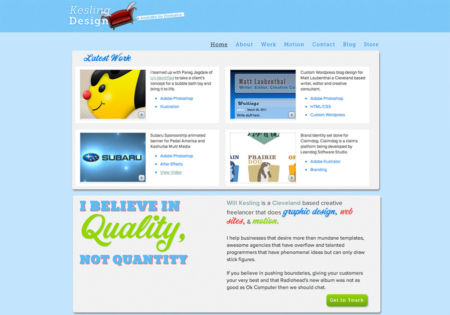 A great web design by Kesling Design, Cleveland, OH: