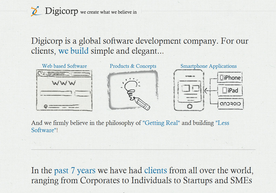 A great web design by Digicorp, Ahmedabad, India: