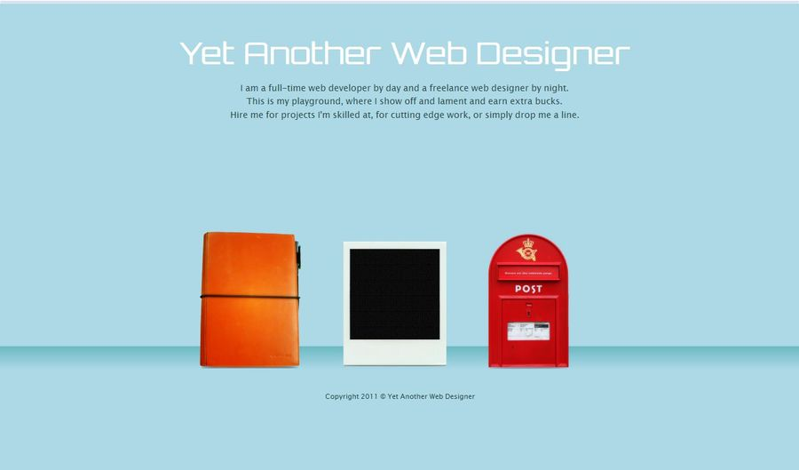 A great web design by Yet Another Web Designer, Singapore, Singapore: