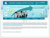 A great web design by Corporate Business Support Solutions CBSS, Bangalore, India: