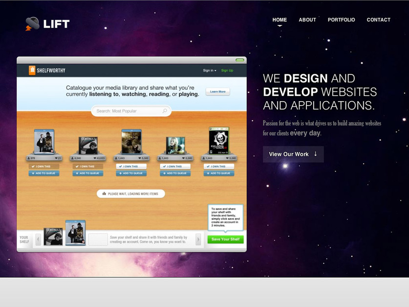 A great web design by Lift - A User Experience Agency, Dallas, TX: