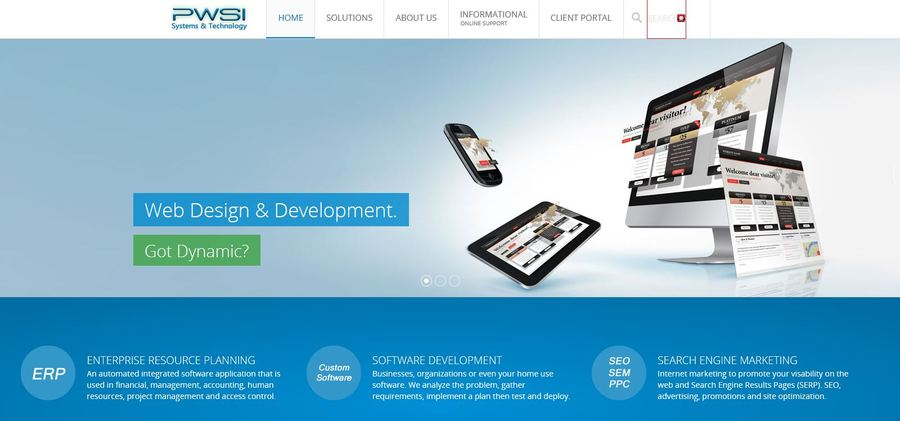 A great web design by PWSI Systems and Technology, Washington DC, DC: