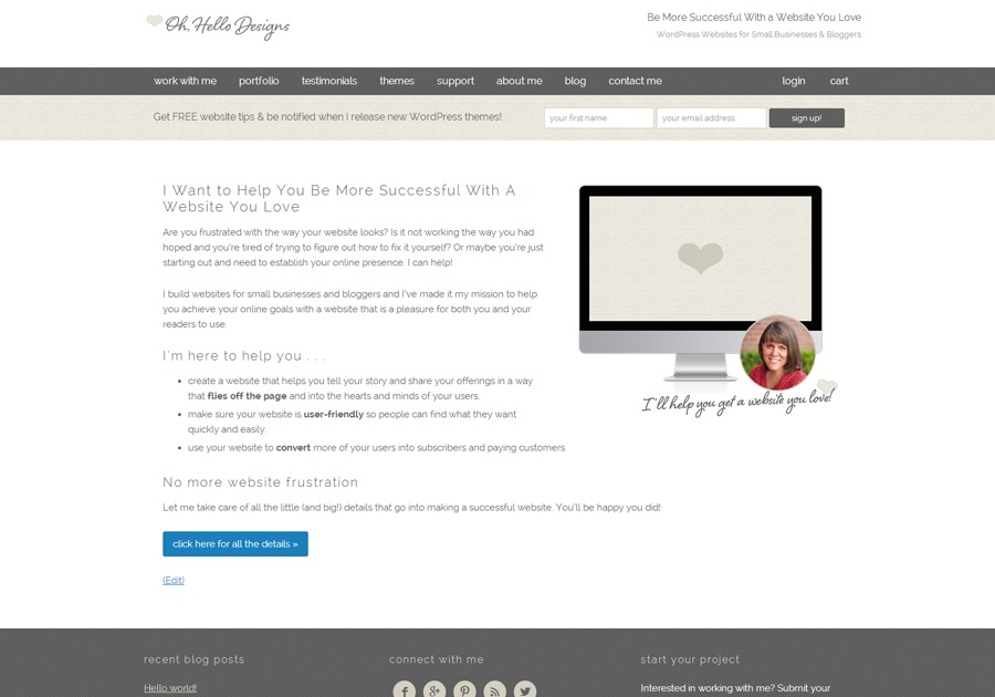A great web design by Oh, Hello Designs, Columbus, OH: Responsive Website, Portfolio , Marketing , Wordpress