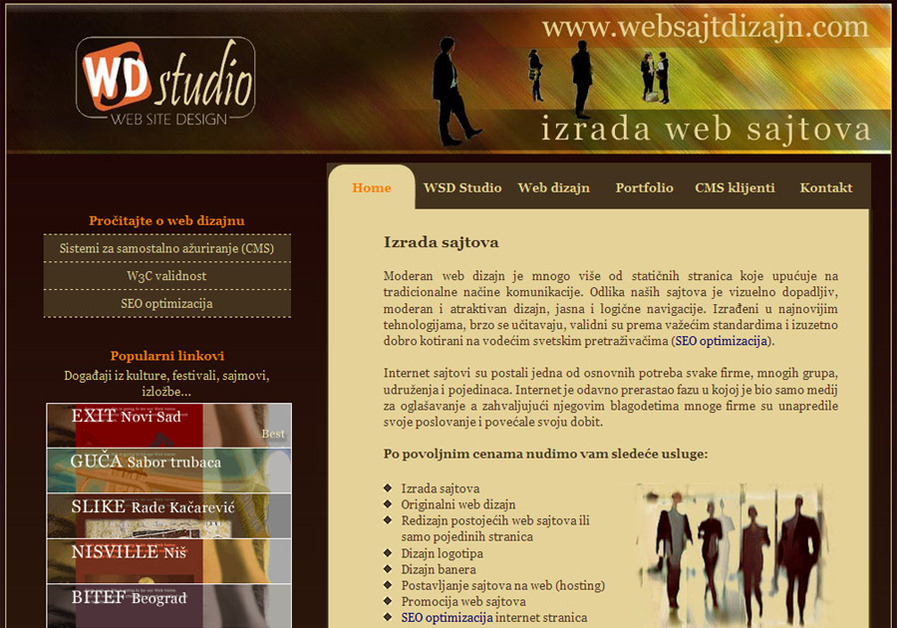 A great web design by WSD Studio, Belgrade, Serbia: