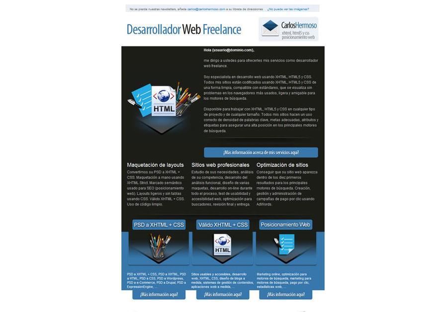 A great web design by Carlos Hermoso, Malaga, Spain: