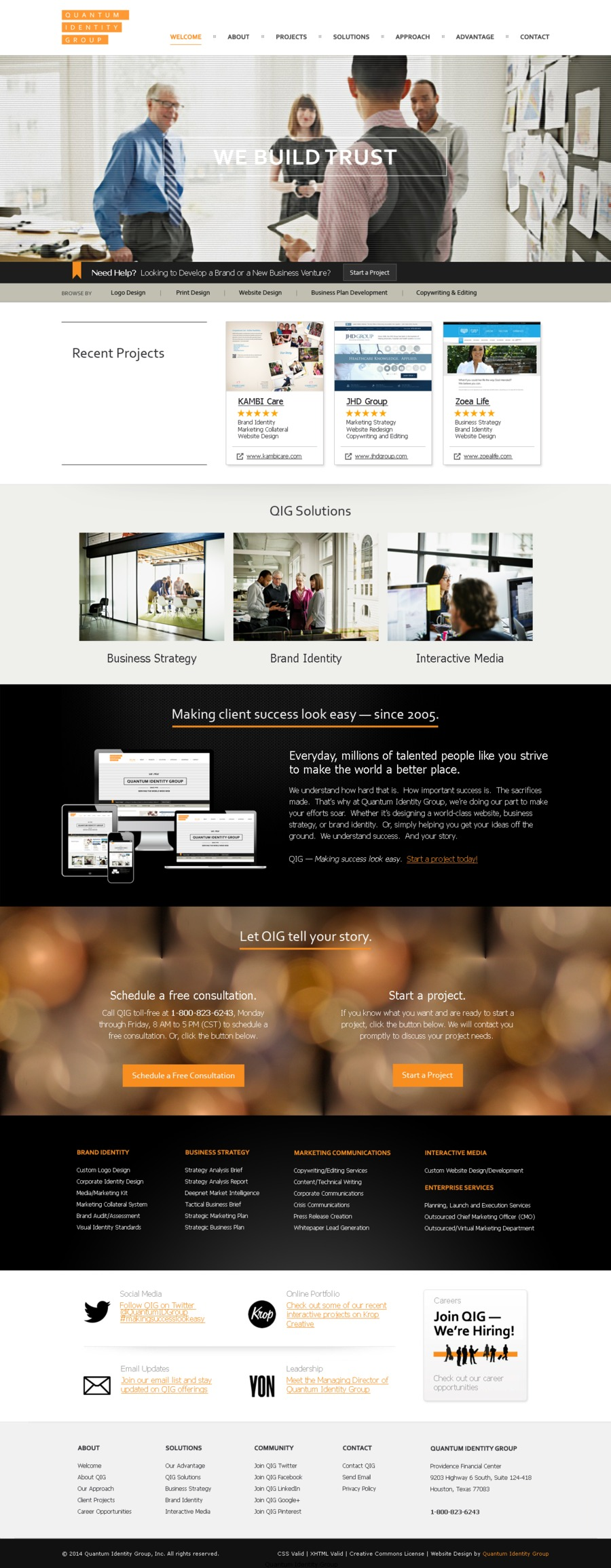 A great web design by Quantum Identity Group, Houston, TX: Website, Marketing Website , Marketing , Static HTML