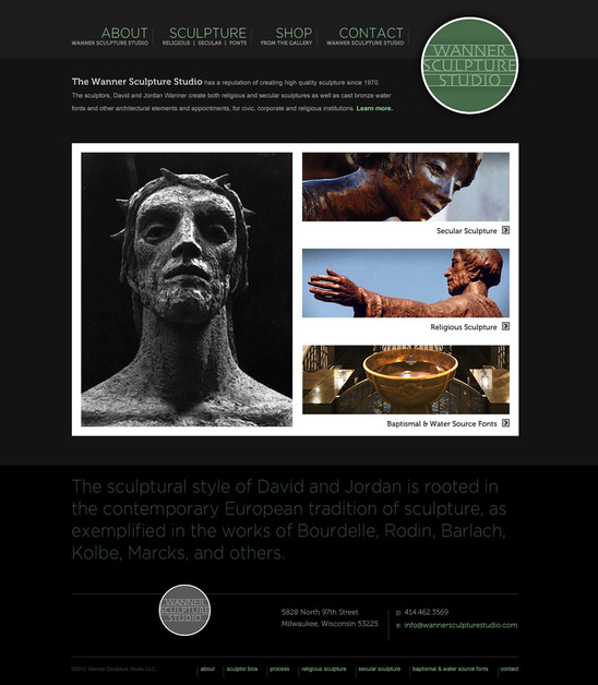 A great web design by Punch Manufacturing, Milwaukee, WI: