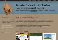 A great web design by Brendan Cullen, Cleveland, OH: