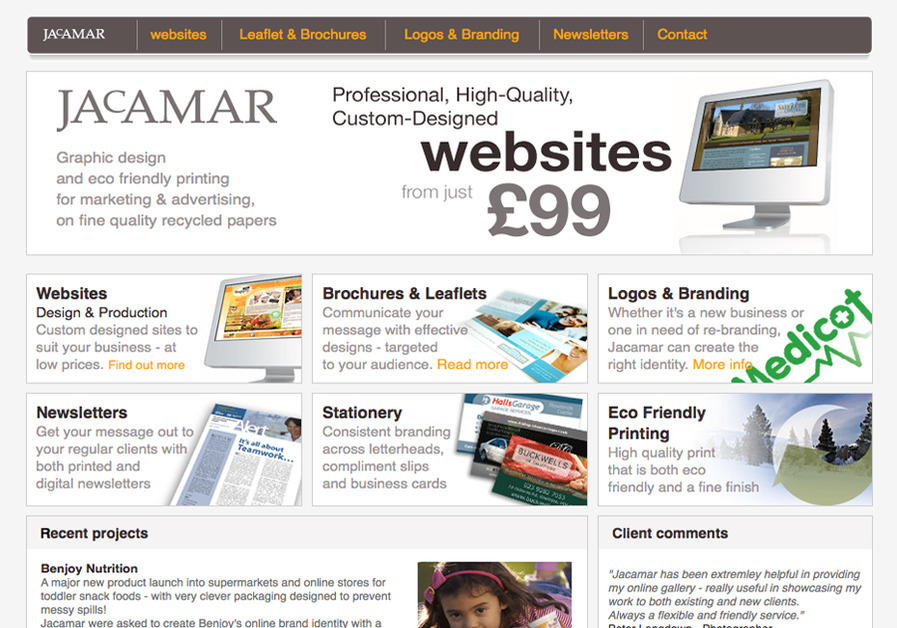 A great web design by Jacamar (UK) Ltd, Portsmouth, United Kingdom: