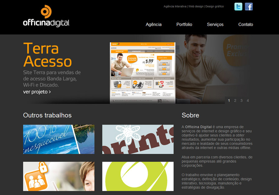 A great web design by Officina Digital, Piracicaba, Brazil:
