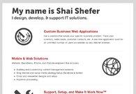 A great web design by Shai Shefer, Philadelphia, PA: