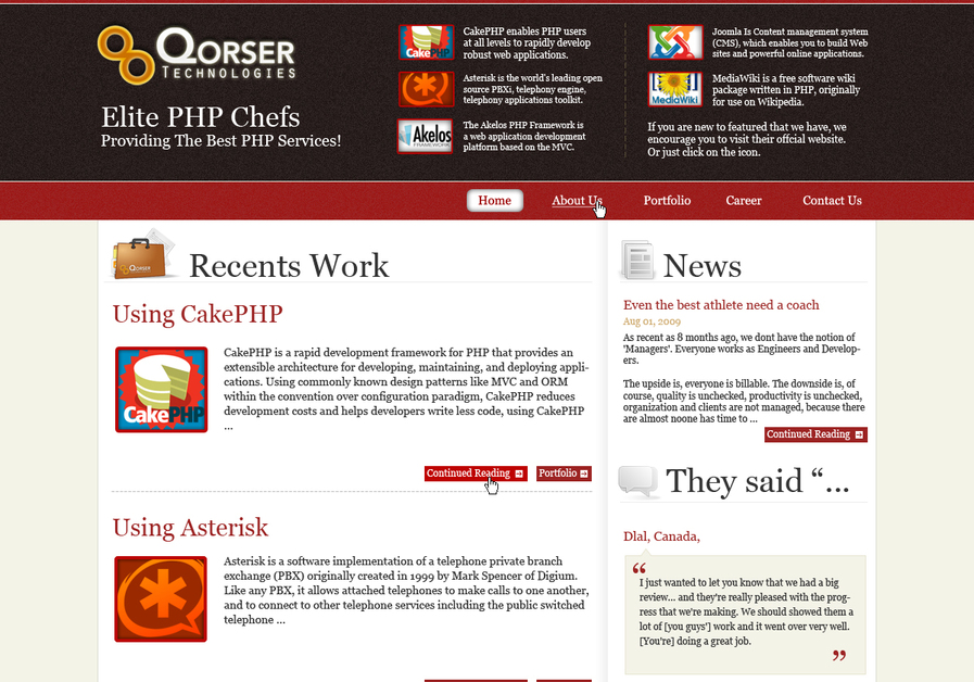 A great web design by Qorser Technologies, Bandung, Indonesia: