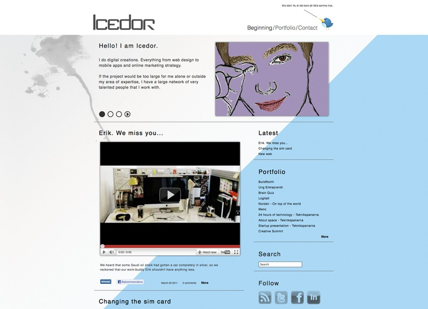 A great web design by Icedor, Skelleftea, Sweden: