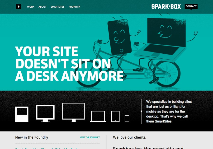 A great web design by Sparkbox, Dayton, OH: