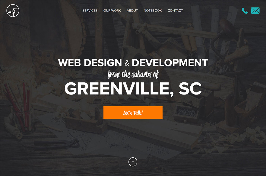 A great web design by Sandlapper Creative, Inc., Greenville, SC: Responsive Website, Portfolio , Marketing , Wordpress
