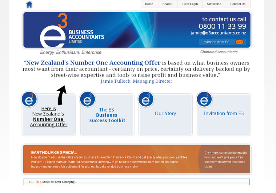 A great web design by Acclipse Ltd, Christchurch, New Zealand: