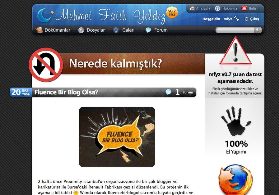 A great web design by Mehmet Fatih YILDIZ, Istanbul, Turkey: