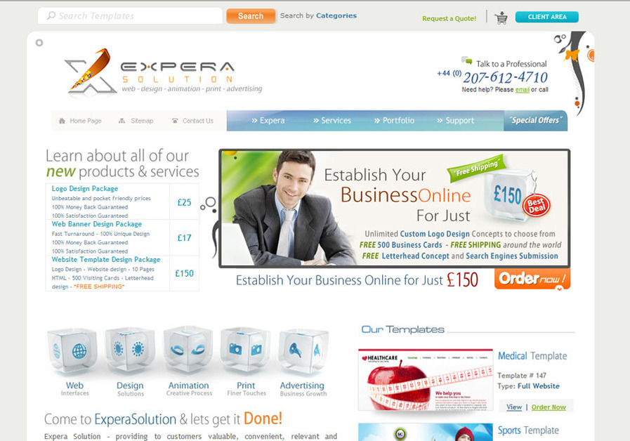 A great web design by Expera Solution, London, United Kingdom: