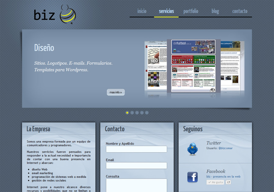 A great web design by Biz, Santa Fe, Argentina: