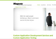 A great web design by Magenic, Minneapolis, MN:
