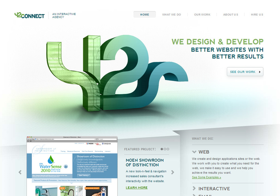 A great web design by 42connect, Cleveland, OH: