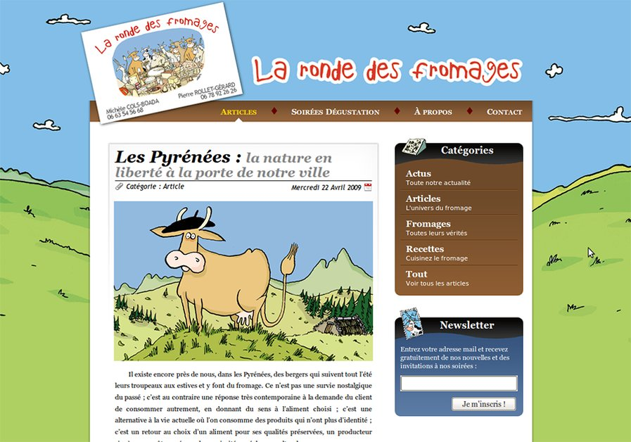 A great web design by Volpeo, Bordeaux, France: