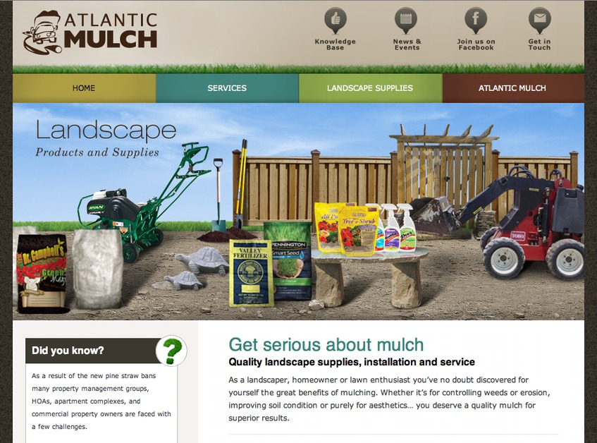 A great web design by SkyBound Studios, Raleigh, NC: