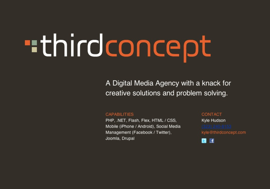 A great web design by Third Concept, LLC, Los Angeles, CA: