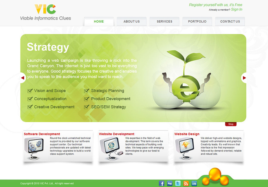 A great web design by Webmaker.co.in, Chandigarh, India: