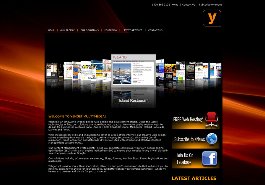 A great web design by Yehget , Sydney, Australia:
