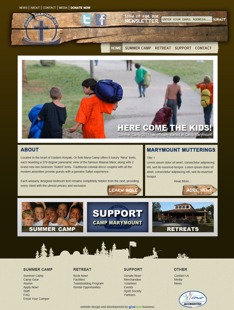 A great web design by Giveyear: Business, Nashville, TN: