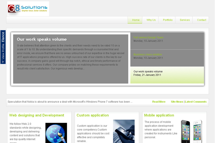 A great web design by G8 Solutions, Jaipur, India: