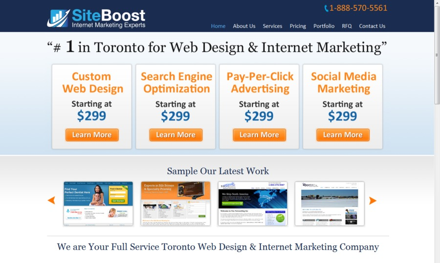 A great web design by Site Boost, Toronto, Canada: