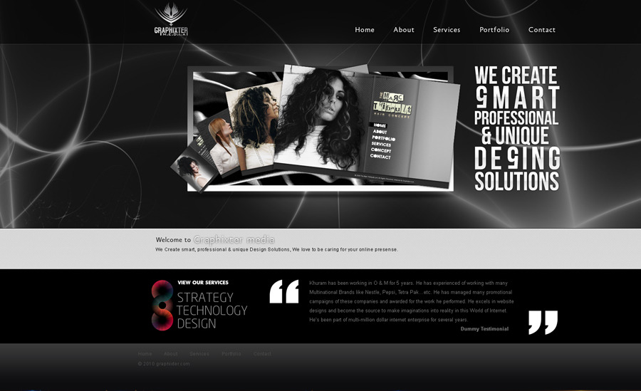 A great web design by graphixter.com, Lahore, Pakistan: