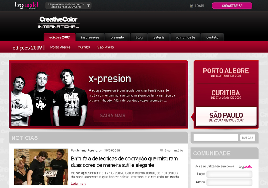 A great web design by Ciro Feitosa, Sao Paulo, Brazil: