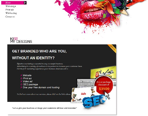 A great web design by Kiss My Designs, Brisbane, Australia: