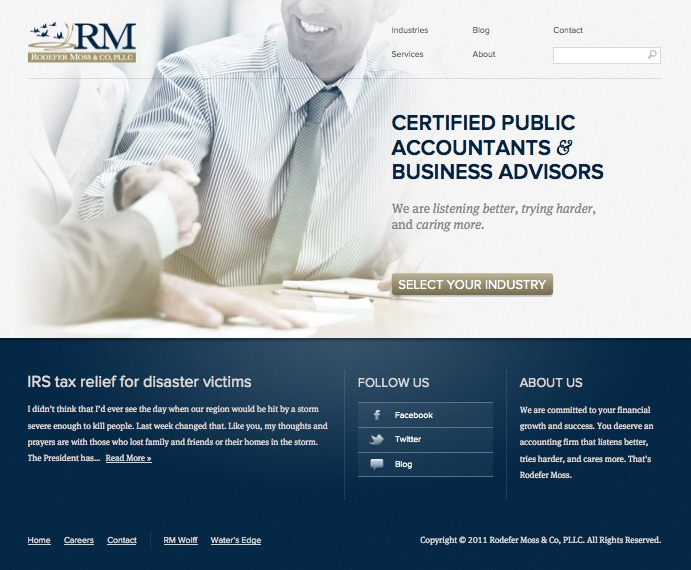 A great web design by 2313 CREATIVE, Knoxville, TN: