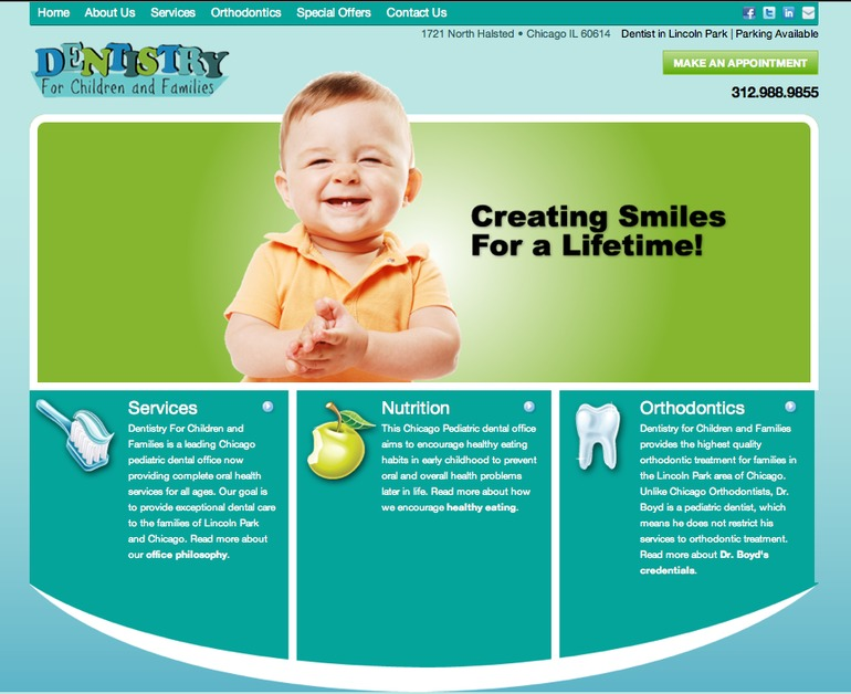 A great web design by Integraphix, Inc., Chicago, IL: