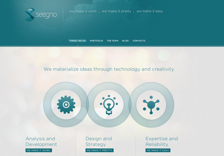 A great web design by Seegno, Braga, Portugal: