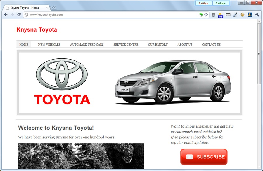 A great web design by V8 Sites, Knysna, South Africa: