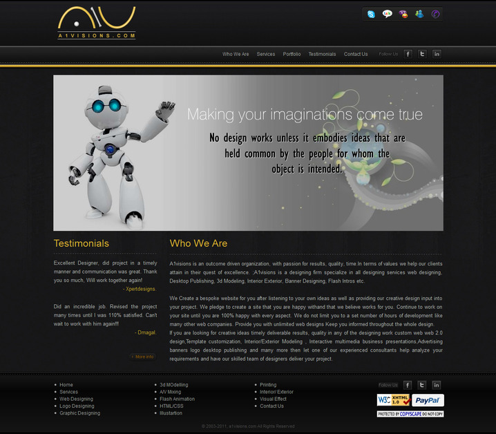 A great web design by a1visions.com, Chandigarh, India: